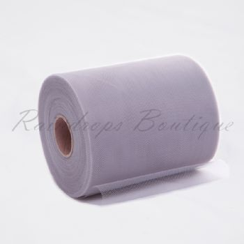 Silver/Grey Polyester Tulle Roll
